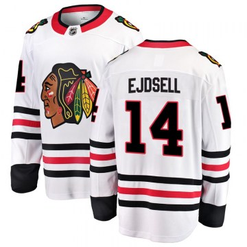 Fanatics Branded Chicago Blackhawks Men's Victor Ejdsell Breakaway White Away NHL Jersey