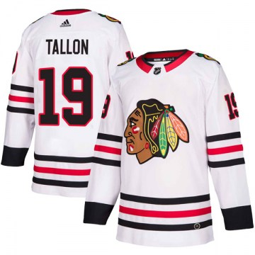 Adidas Chicago Blackhawks Men's Dale Tallon Authentic White Away NHL Jersey