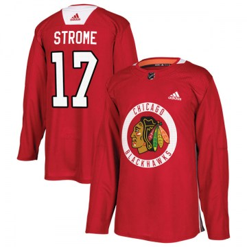 Adidas Chicago Blackhawks Youth Dylan Strome Authentic Red Home Practice NHL Jersey