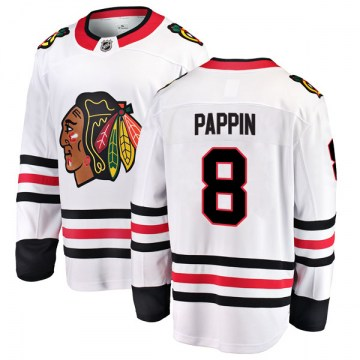 Fanatics Branded Chicago Blackhawks Youth Jim Pappin Breakaway White Away NHL Jersey