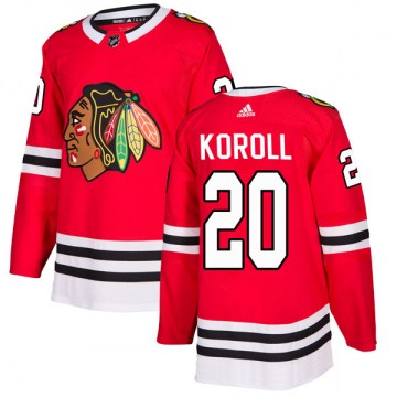 Adidas Chicago Blackhawks Youth Cliff Koroll Authentic Red Home NHL Jersey